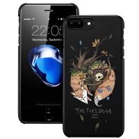【当当自营】 ESR亿色 iPhone7 Plus手机壳 浮雕卡通硬壳 插画师系列夜光款 狐狸骷髅
