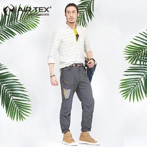 AIRTEX吸湿排汗速干裤男登山徒步快干裤户外运动长裤