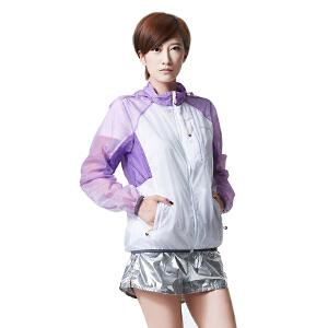 AIRTEX/亚特  拉链胸袋 清新撞色白皮肤风衣女款 英国时尚户外