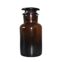 250ml棕色广口瓶 磨砂玻璃塞 密封玻璃瓶 化学实验器材 实验耗材