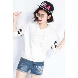 自由呼吸卫衣女春季2017新款连帽韩版潮学生宽松带帽衫女士外套