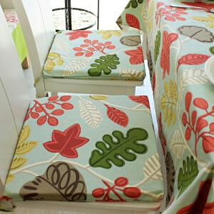 乐唯仕2条装椅垫坐垫布艺夏凉学生椅子垫纯棉沙发办公室电脑厚靠