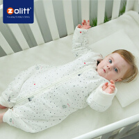 Zolitt 卓理 婴儿秋冬加厚儿童纱布分腿睡袋新生儿宝宝夹棉蘑菇防踢被冬