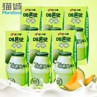 【韩国进口】Binggrae/宾格瑞 哈密瓜牛奶200ml*6盒 果味饮料 营养早餐牛奶