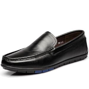 格罗堡春季新款休闲鞋男士英伦套脚驾车鞋时尚轻便豆豆鞋乐福鞋