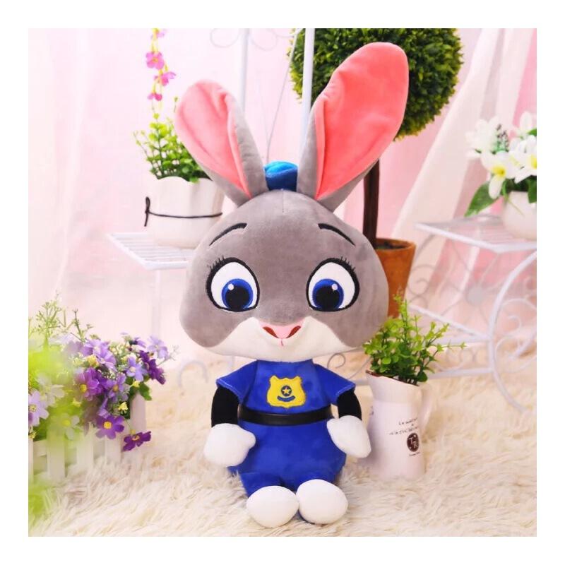迪士尼疯狂动物城公仔兔子朱迪狐尼克毛绒玩具布娃娃玩偶男女孩男女生