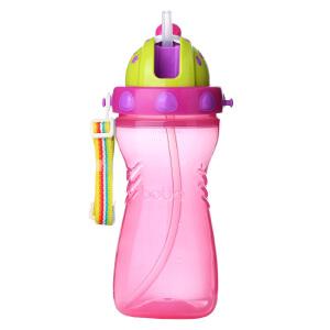 【当当自营】乐儿宝(bobo) 婴儿世界 多彩便携水壶400ml 红色 儿童水杯水壶