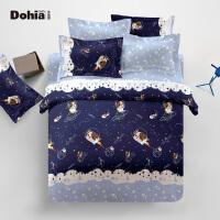 多喜爱家纺 全棉四件套儿童床品套件卡通三件套床上用品太空漫步