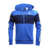 Adidas阿迪达斯男装 2017新款训练系列运动休闲连帽茄克外套 BR1541