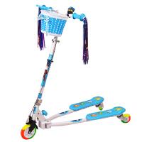 【当当自营】炫梦奇儿童滑板车 蛙式滑板三轮车 可调高低 彩虹闪光轮 蓝色