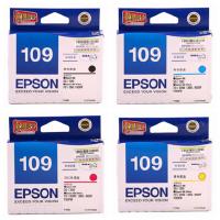 爱普生原装 EPSON 109墨盒 T1091黑色墨盒 T1092青色 T1093洋红色 T1094黄色 爱普生EPSON ME30 ME300