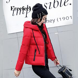 Freefeel2017秋冬新款羽绒服短款女装韩版休闲时尚棉衣羽绒棉服808
