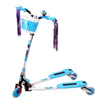 【当当自营】炫梦奇儿童滑板车 蛙式滑板三轮车 双后刹车 可调高低 闪光轮 蓝色