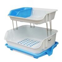 厨房置物架  沥水篮餐具架 大号双层沥水碗架  碗盘碟架  收纳架