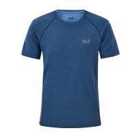 狼爪(Jack Wolfskin)2017款圆领透气吸湿短袖速干T恤1805481