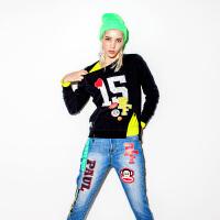 Paul Frank 大嘴猴【商场同款】女式圆领套头卫衣PFATT153857W