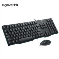 罗技MK100有线键鼠套装圆孔接口键鼠套装有线办公家用键盘鼠标