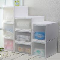 百露塑料抽屉式收纳柜儿童宝宝衣柜玩具抽屉柜透明整理柜储藏柜