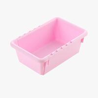 当当优品 可伸缩抽屉收纳盒 塑料厨房餐具整理分隔盒 粉色小号