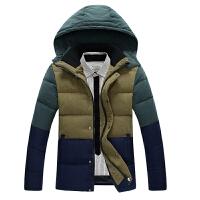 吉普盾羽绒服男短款修身韩版干练修身保暖立领型羽绒外套