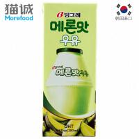 【韩国进口】Binggrae宾格瑞哈密瓜味牛奶饮料 常温牛奶 200ml 营养牛奶