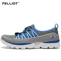 法国PELLIOT户外徒步鞋 男女健步鞋防滑耐磨营地鞋轻便透气登山鞋