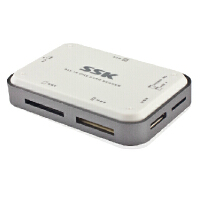 SSK飚王 USB 3.0读卡器 白金读卡器 SCRM056 USB 3.0 读卡器 全能王 多功能多合一高速读卡器