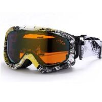 男女滑雪镜  双层可卡近视镜  大柱面大视野滑雪眼镜