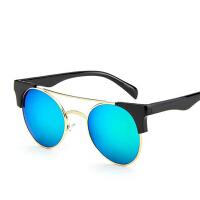 欧美潮牌双梁太阳眼镜新款时尚炫彩太阳镜043 反光墨镜个性蛤蟆镜