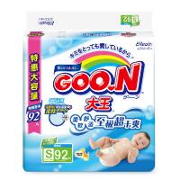 [当当自营]GOO.N 大王 维E系列婴幼儿用纸尿裤 尿不湿 环贴式纸尿裤 S92片(适合4-8kg)电商装