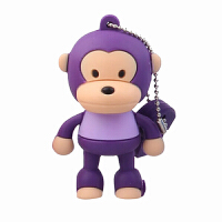 达芬奇DaFonQi 电脑U盘卡通系列创意时尚礼品投标车载两用优盘 系统迷你加密 USB2.0可爱闪存盘 大嘴猴