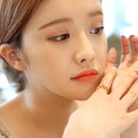 欧丁韩国s925纯银戒指开口 女款蝴蝶结戒指 指环日韩饰品H052