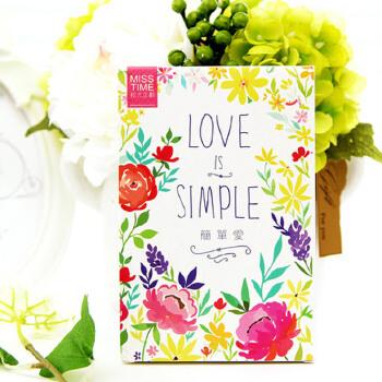 创意爱情明信片 简约花朵纹样表白卡片 简单爱 创意英文表白唯美.
