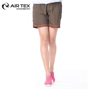 AIRTEX亚特 春夏季户外速干短裤 修身运动登山裤快干裤 女款休闲裤五分裤