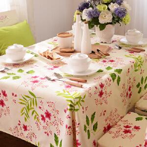 乐唯仕纯棉桌布布艺时尚特价田园风台布餐桌布欧式茶几布可定做制