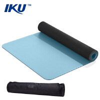 IKU 2mm/4mm PU天然橡胶瑜伽垫 超防滑超吸汗环保无味男女加长加宽土豪瑜珈运动健身垫子185cm*68cm*2mm/4mm 送背包