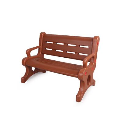 麦宝创玩 儿童塑料欢乐休闲椅 幼儿塑料靠背休闲椅儿童塑料长椅双人