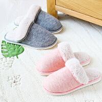 【支持礼品卡支付】日本爱尚佳品保暖棉拖鞋男女情侣家居地板拖鞋冬J1014