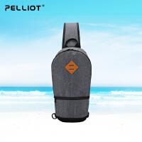法国PELLIOT运动单肩包男女 新款胸包多功能户外包斜挎手提运动包