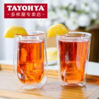 TAYOHYA多样屋 明乐明朗高球杯 透明隔热双层玻璃杯