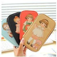 韩国文具 创意可爱女多功能铅笔盒 学生洋娃娃大容量笔袋  动物款笔袋 包邮 开学季