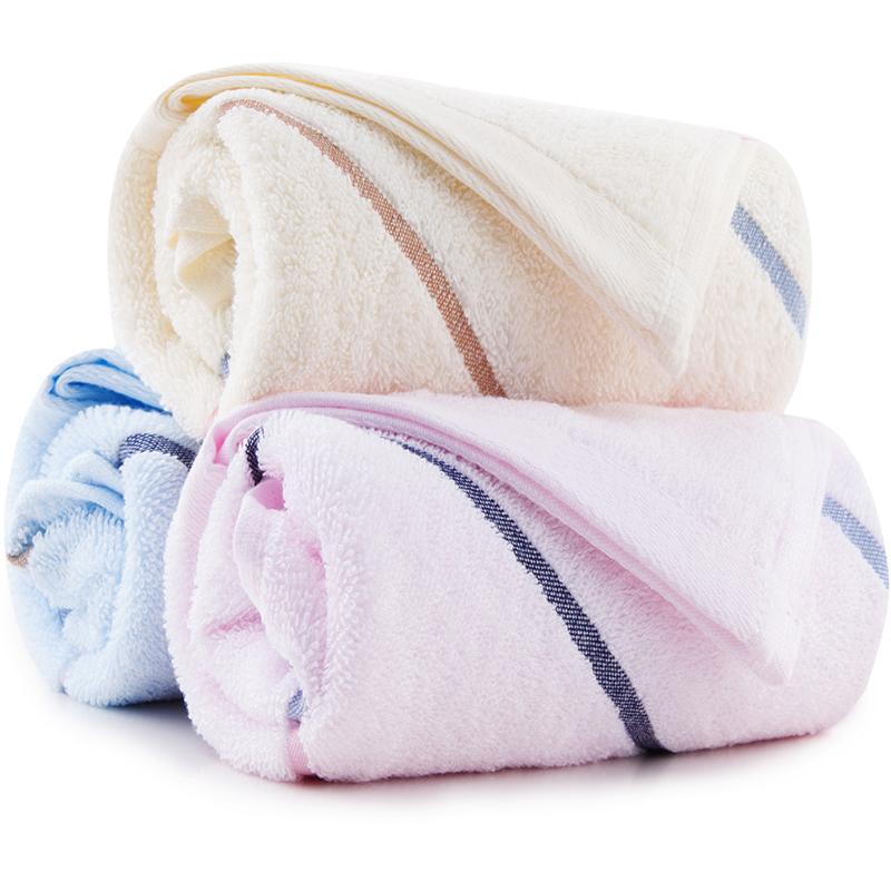 [当当自营]三利 纯棉彩虹缎大面巾 洗脸毛巾超值3条装