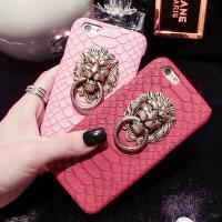 苹果iphone6s狮子头手机壳6s plus蛇纹真皮iPhone6保护皮套 金属扣手机壳iPhone5狮头