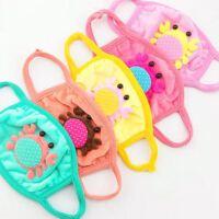 秋冬新款毛绒口罩 儿童小螃蟹保暖面罩 糖果色宝宝口罩