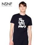 NSNF纯棉简约字母印花黑色短袖T恤 2017年春夏新款