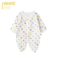 歌歌宝贝 夏季新款连体衣 婴儿连体衣 长袖纱布蝴蝶衣