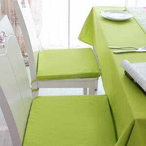 乐唯仕2条装椅垫坐垫布艺夏凉学生椅子垫纯棉绿色沙发办公室电脑