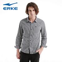 鸿星尔克erke 男时尚简约条纹长袖衬衫11214305415