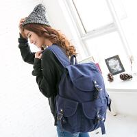吉野新款女包包潮女士双肩包背包帆布包韩版女包高中大学生书包休闲旅行包时尚学院女包包8536