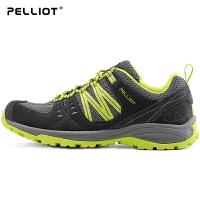 法国PELLIOT户外登山鞋男女防滑跑步运动鞋情侣透气耐磨徒步鞋子